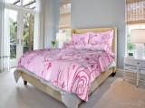 Bavlnené  posteľné obliečky lúka ružová