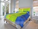 Bavlnené posteľné obliečky Targo zelené