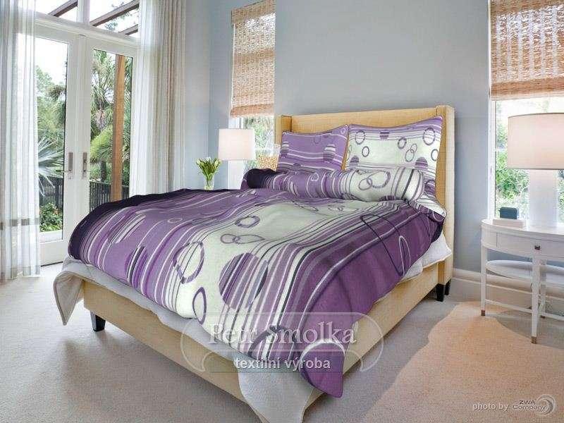 Bavlnené posteľné oblečenie fialovej farby vo všetkých velkostiach smolka