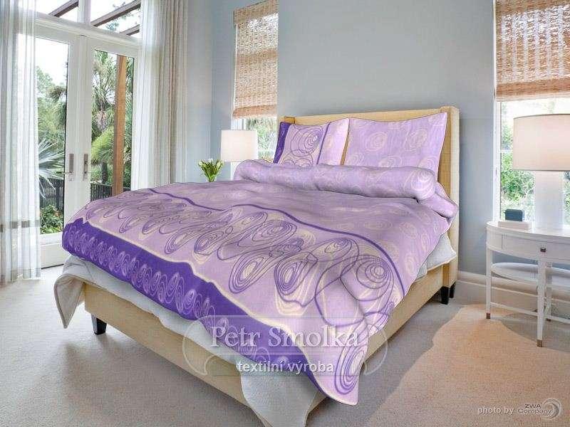 Bavlnené obliečky v jasnej fialovej farbe smolka