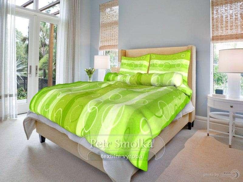 Krásne krepové obliečky zladené do zelena smolka
