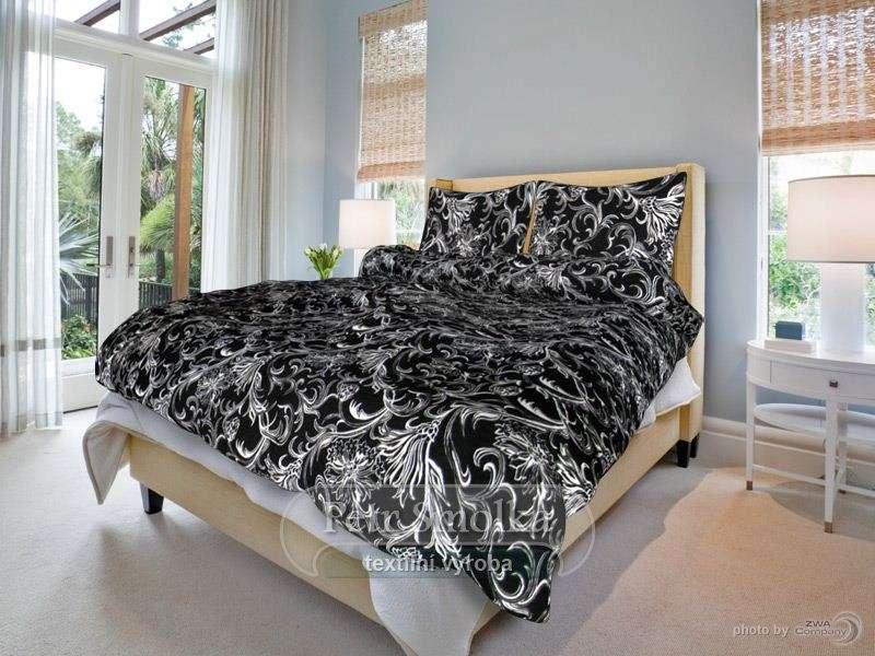 Krásne moderné krepové obliečky čiernobielej farby smolka