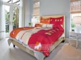 Bavlnené  posteľné obliečky Presýpacie hodiny červené