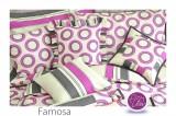 Farebné bavlnené posteľné obliečky Famosa