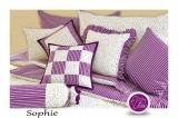 Saténové posteľné obliečky vidieckeho štýlu SOPHIE