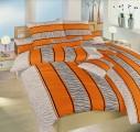 Bavlnené obliečky oražnovej farby so šedou Safari oranžové Dadka