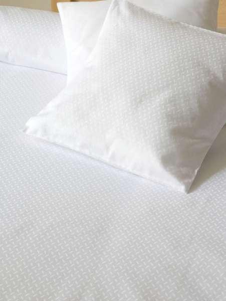 Biele bavlnené obliečky z damašku Dadka