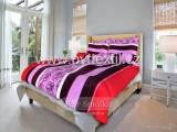 Bavlnené posteľné obliečky Ruža v čiernom lila
