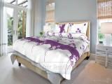 Bavlnené  posteľné obliečky Kvetinka fialová