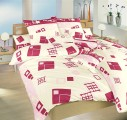 Posteľné obliečky bavlnené Svet kociek ružový