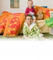 Detské obliečky s motívom žirafiek na oranžovom Dadka