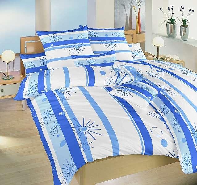 Kvalitné krepové obliečky ladené do bielo-modrej farby Dadka