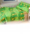 Obliečky krepové - Žirafa zelená