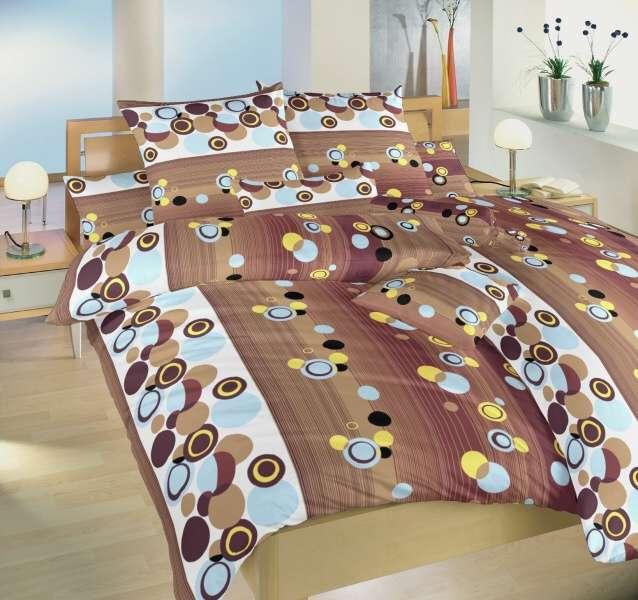 Kvalitné bavlnené obliečky hnedej farby Karneval čokoládový Dadka