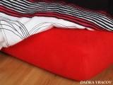 Froté plachta červená exclusive Dadka