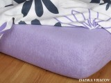 Napínacia froté plachta fialová exclusive Dadka