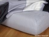 Kvalitná froté plachta šedá exclusive Dadka