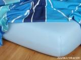 Jersey prostěradlo světle modré barvy Dadka