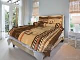 Bavlnené posteľné obliečky Tonda hnedá