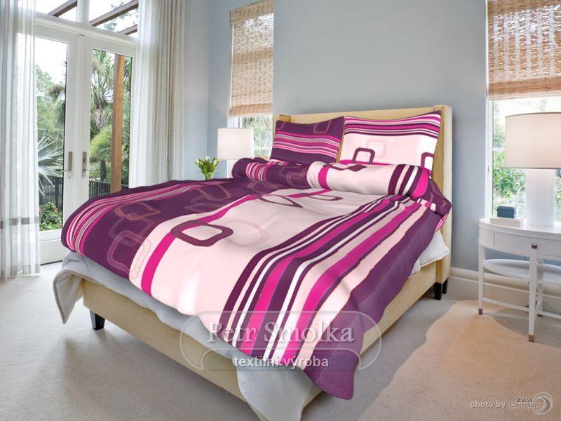 Bavlnené obliečky fialovej farby smolka
