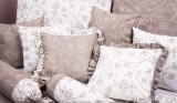 Bavlnené posteľné obliečky Stickerei hnedá