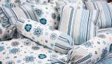 Bavlnené  posteľné obliečky Modrý veľký kvet