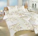 Bavlnené posteľné obliečky - Lavina žltá