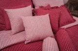 Obliečky bavlnené ČERVENÉ KOCKY negatív/pozitív