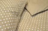 Bavlnené obliečky béžovej farby s bodkami fitex