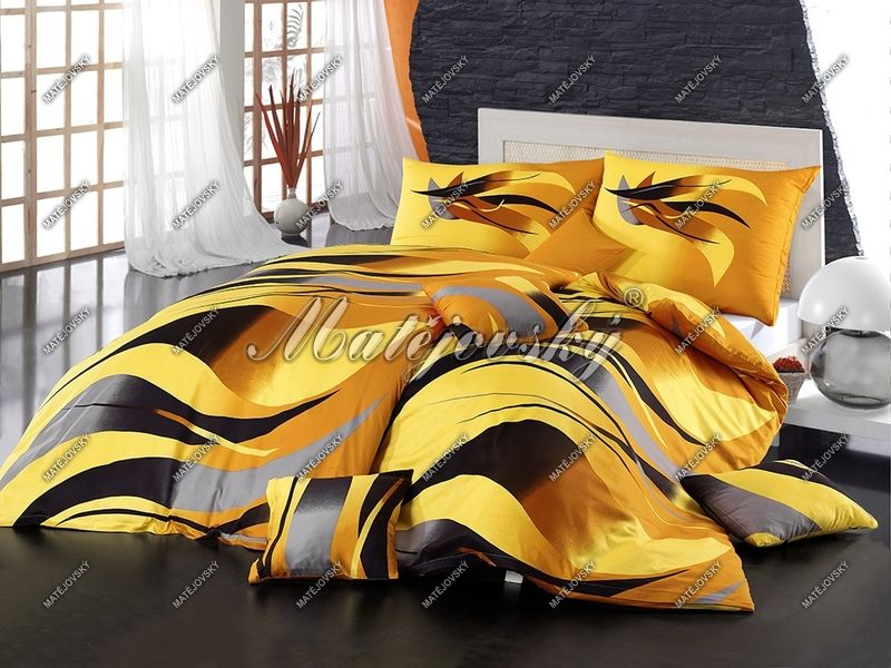 Bavlnené obliečky v žiarivo žltej farbe Matějovský