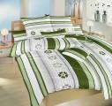 Zelené krepové obliečky Jarná romanca zelená Dadka