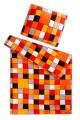 Obliečky mikroflanelu Kocka oranžová