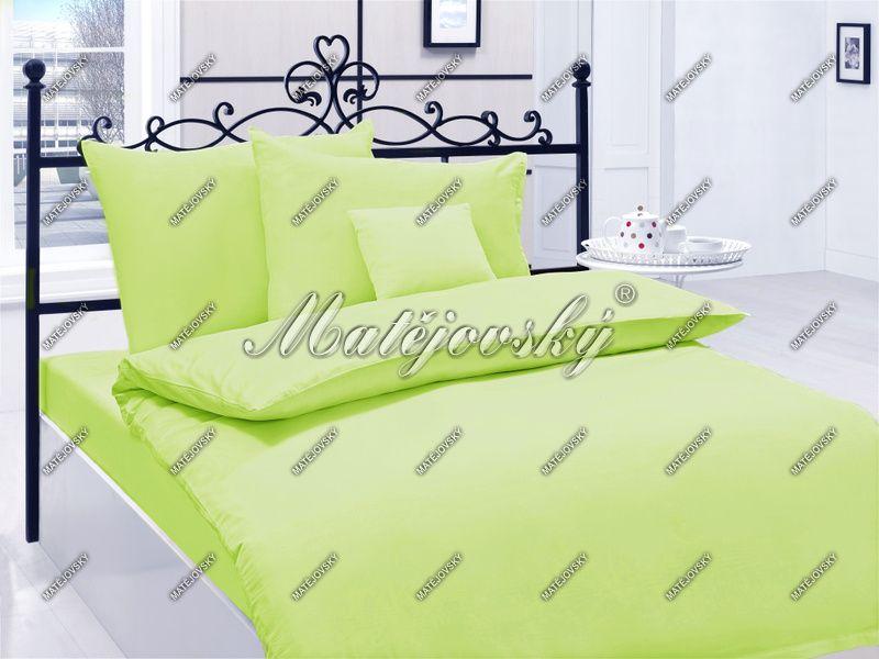 Saténové obliečky v zelenej farbe Matějovský