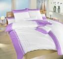 Saténové obliečky Ibiza fialové