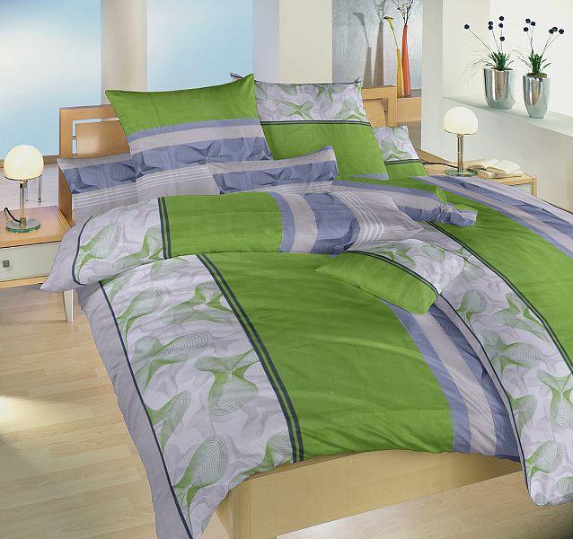 Krepové obliečky zelené so šedým Medúza zelená Dadka