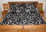 Bavlnené posteľné obliečky Dark