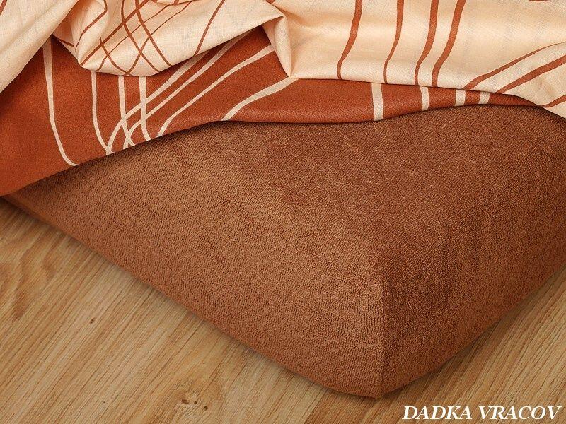 Napínacia froté plachta v nugátovej farbe Dadka