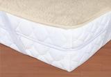 Vlnený matracový chránič - béžový