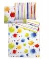Obliečky mikrovlákno farebné machule a prúžky na bielom podklade Svitap