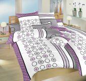 Obliečky satén - Kolotoč fialový