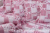Bavlnené obliečky WINTER PATCHWORK červený