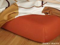 Kvalitná Jersey plachta tehlová Dadka
