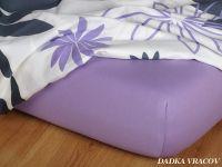 Kvalitná Jersey plachta fialová vyskúšajte Dadka