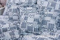 Poťah jednoduchý WINTER PATCHWORK modrý