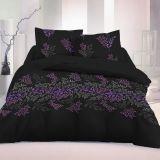 Luxusné saténové obliečky Victoria čierna