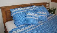 Bavlnené  posteľné obliečky Kanafas modrý