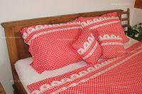 Bavlnené obliečky Kanafas červené