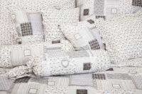 Bavlnené obliečky Patchwork Deluxe šedý