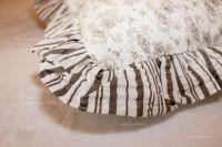 Bavlnené obliečky s tradičným kvetinovým vzorom v čiernobielej farbe