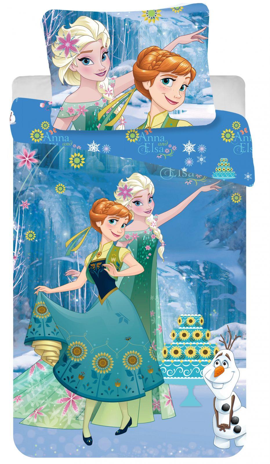 Detské bavlnené obliečky Frozen modré Jerry Fabrics